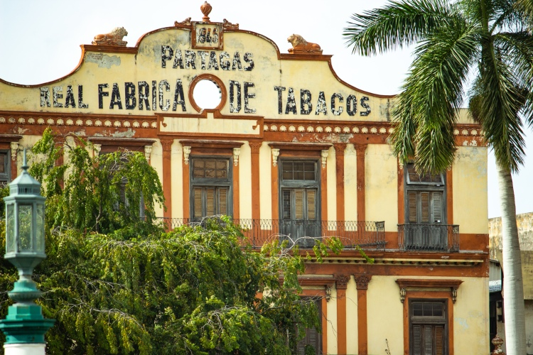 Old tobacco factory in Havana Cuba