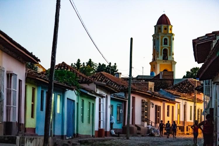Multicolored architecture in Trinidad Cuba