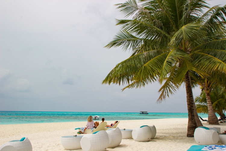 Lounging in Maldives